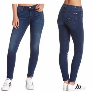 7 For All Mankind Gwenevere Skinny Blue Jeans S 27